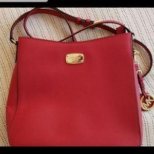 Never used Michael Kors red handbag